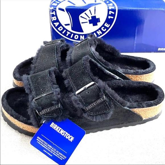 BIRKENSTOCK NEW Shearling Fur Arizona Sandals 40